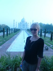 Had to get the standard tourist shot in front of the Taj..