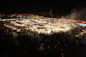 The Jamaa el Fna night markets in Marrakesh