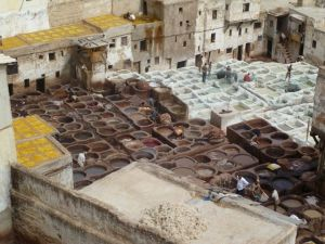 The tanneries in Fes